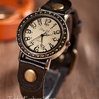 Vintage Jewelry, watch, women watch, mens watch,Leather Watch W19