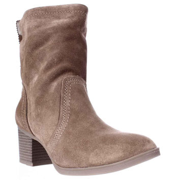 White Mountain Behari Pull On Ankle Boots - Chestnut