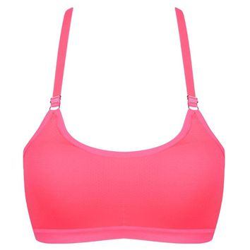 Sexy Linger Sweat Top Athletic Fitness Running Sports Bra Gym Fitness Women Padded Vest Tanks  Professional Quick Dry Breathable