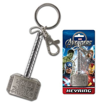 Thor Hammer Pewter Key Chain