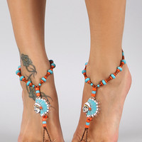 Chieftain Beaded Foot Chain