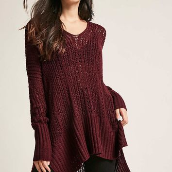Oversized Open-Knit Top