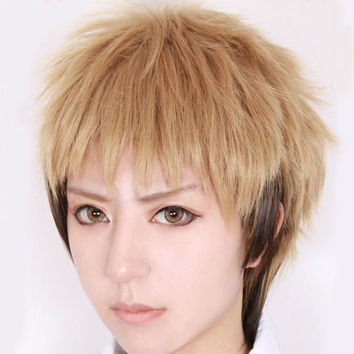 Harajuku Style Mordor Attack on Titan Jean Kirstein Linen Mix Short Cosplay Costume Wig Wig Cap