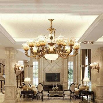 European Crystal Chandelier Living Room Decoration Home Lighting Luxury Glass Chandeliers Hotel Hanging Lights Indoor wall Lamp