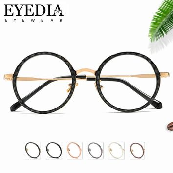 New Luxury Women Men Round TR90 Glasses Frame Oliver Peoples Optical Prescription Computer Myopia Glasses With Clear Lens 9123CJ