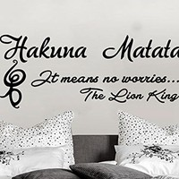 Wall Decals Quotes Vinyl Sticker Decal Quote Hakuna Matata It means no worries Home Decor Bedroom Art Design Interior NS890