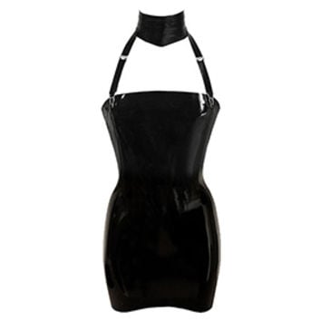 Couture Latex Restricted Strapless Mini Dress | Atsuko Kudo