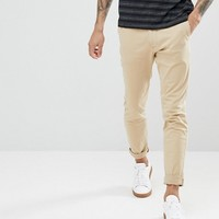 Hollister Superskinny Stretch Chinos in Beige at asos.com
