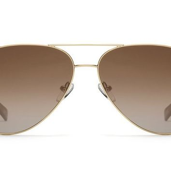 Quay Still Standing Gold Sunglasses / Smoke Taupe Lenses
