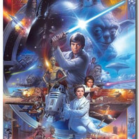 Star Wars – 30th Collage Movie Poster 22x34 RP9940 Used