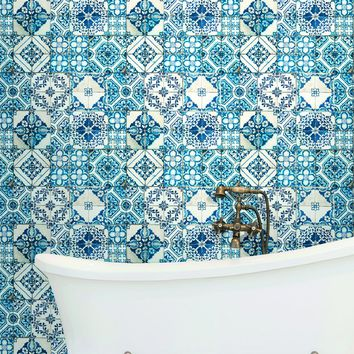 York Mediterranean Mosaic Tile Wallpaper