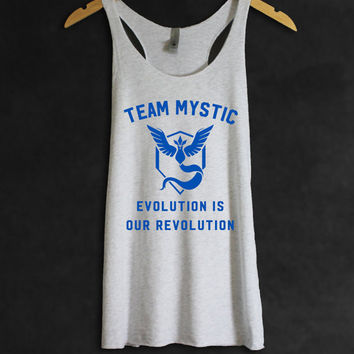 Pokemon GO Shirt Team Mystic Women Tank Top Tee | Quote | | Pokemon Gift | Funny Quotes Anti-social Womens Childrens Gift