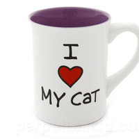 I HEART MY CAT MUG