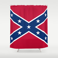 Confederate flag- Authentic version Shower Curtain by Bruce Stanfield