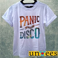 Panic at The Disco Logo on Galaxy Women T Shirt