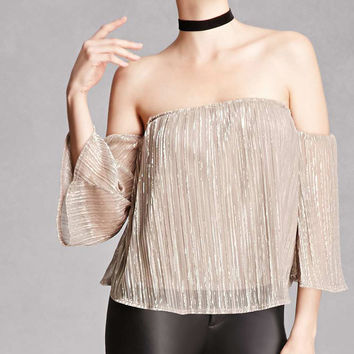 Glitter Off-the-Shoulder Top