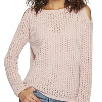 Luna Loose Knit Cold Shoulder Sweater