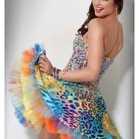 Jovani Short Prom Dress 71316 - Animal print party dresses | Promgirl.net