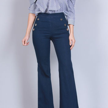BUTTON BELL PANTS
