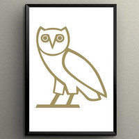 "Drake Owl illuminati confirmed Poster Poster Giclée Printed 24"" x 36"" or 18"" x 24""! Great Gift"