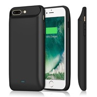 Iphone 7 Plus 8 Plus Battery Case 7200mah Upgraded Iposible Portable Iphone 7 Plus Charging Case Extended Battery Pack Protective Juice Pack Charger Case For Iphone 8plus(5.5inch)