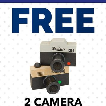 Free Labor Day PFSTAMPA Set Of 2 Photo Camera Rubber Stamps  (Great photographer Gift)