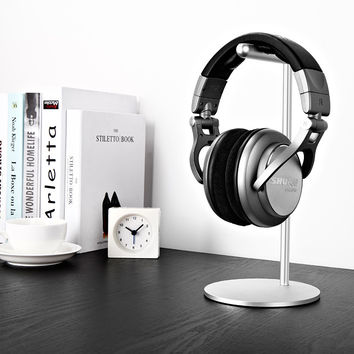Fashion Headphones aluminum desktop stand Holder Headset hanging bracket Headphone Stand base