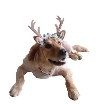 Christmas Antlers head hoop for dogs. Different sizes.