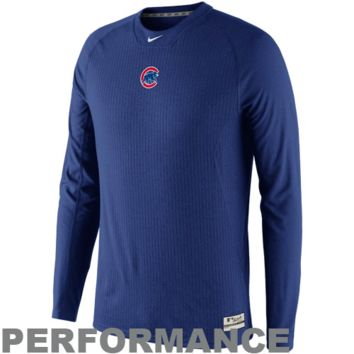 Nike Chicago Cubs Thermalite Performance Long Sleeve T-Shirt - Royal Blue