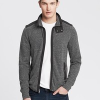 Banana Republic Mens Vintage Woven Trim Track Jacket