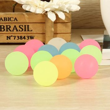 10 Pcs Luminous Moonlight High Bounce Ball In The Dark Pinata Fillers Children Toy Birthday Gift Kids Party Favor Glow