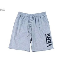 VANS men's and women's sports and leisure loose five points beach pants F-Great Me Store grey