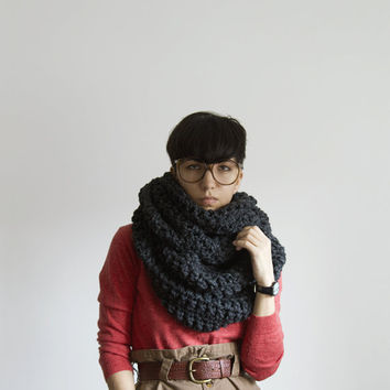 The Pembroke Cowl in Charcoal