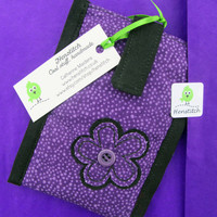 Purple flower fabric iPhone case