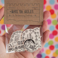 MADE TO ORDER | Note to self - Temporary Tattoo Set | Self-Care | 14 Temporary Tattoos