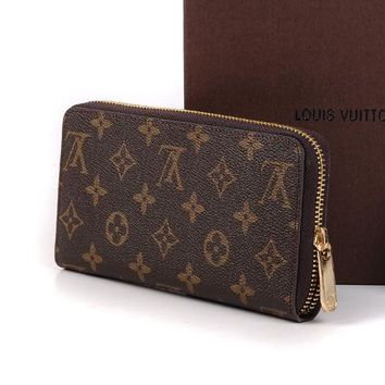 Louis Vuitton LV Women Leather Fashion Wallet Purse