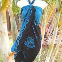 Hawaiian sarong beach cover up