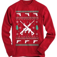 Assault Rifle Ugly Christmas Sweater - On Sale