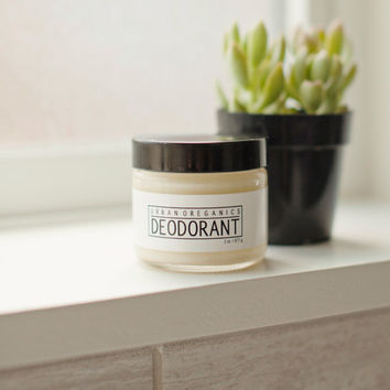 DEODORANT CREAM // Sensitive Skin Deodorant. No Baking Soda. Aluminum-Free - - - Vegan ∙ Organic ∙ 100% Natural