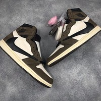 "Travis Scott x Air Jordan Retro 1 High OG TS SP ""Cactus Jack"" ""Mocha"""