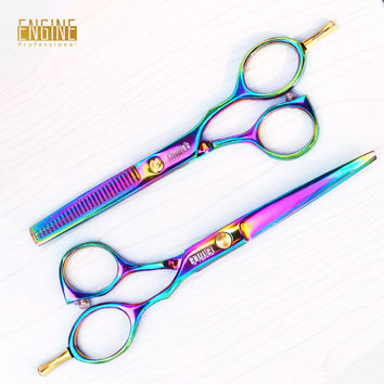 Rainbow Shears and Hair Thinning Scissors