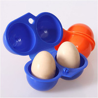 New Kitchen Convenient Egg Storage Box Container Hiking Outdoor Camping Carrier For 2 Egg Case #55012