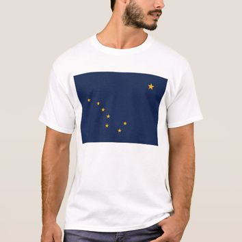 T Shirt with Flag of Alaska State USA