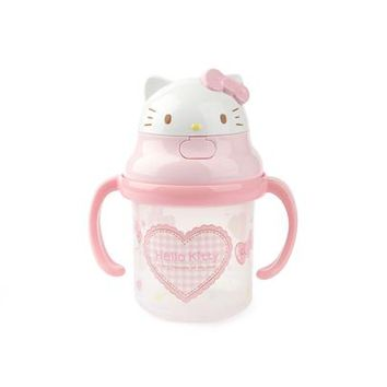 Hello Kitty Straw Sippy Cup: Hearts