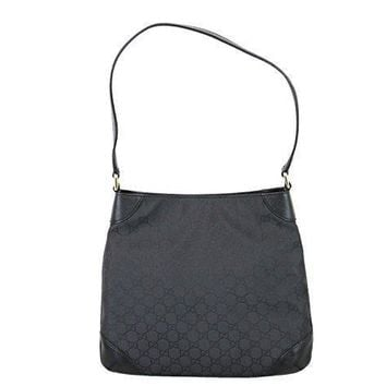 Gucci Nylon Black Hobo Handbag Shoulder Bag 257296 1000