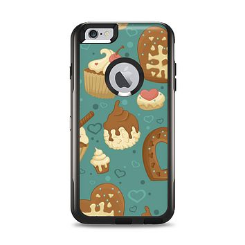 The Teal and Brown Dessert iCons Apple iPhone 6 Plus Otterbox Commuter Case Skin Set