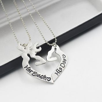 Her Buck His Doe Lover Matching Necklaces