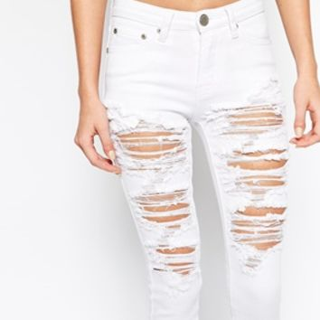 Glamorous Petite Distressed Denim Jean