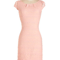 ModCloth Pastel Mid-length Cap Sleeves Shift Lavishly Lovely Dress