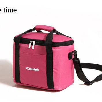new branded thermal picnic cooler lunch bag insulated cool shoulder bags ice pack thermo lunch box bag milk  food fresh bags